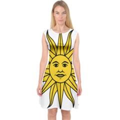 Uruguay Sun of May Capsleeve Midi Dress by abbeyz71