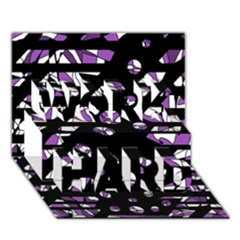 Violet Freedom Work Hard 3d Greeting Card (7x5) by Valentinaart