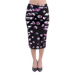 Magenta Freedom Midi Pencil Skirt by Valentinaart