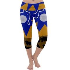 Decorative abstraction Capri Yoga Leggings by Valentinaart