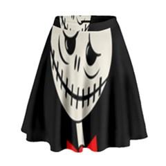 Halloween monster High Waist Skirt by Valentinaart