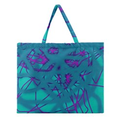 Chaos Zipper Large Tote Bag by Valentinaart
