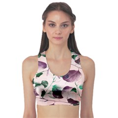 Spiral Eucalyptus Leaves Sports Bra by DanaeStudio