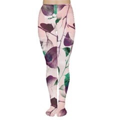 Spiral Eucalyptus Leaves Tights by DanaeStudio