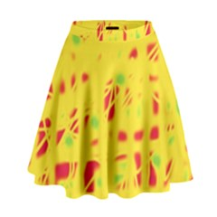 Yellow And Red High Waist Skirt by Valentinaart