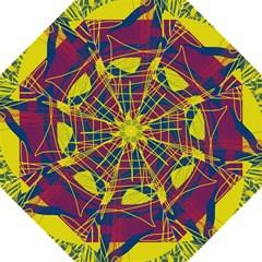 Yellow High Art Abstraction Golf Umbrellas by Valentinaart