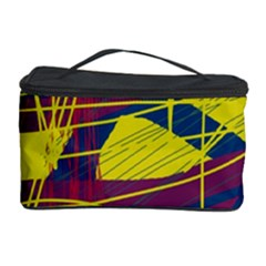 Yellow High Art Abstraction Cosmetic Storage Case by Valentinaart