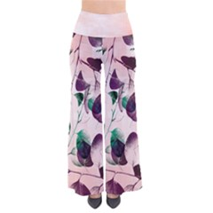 Spiral Eucalyptus Leaves Women s Chic Palazzo Pants  by DanaeStudio