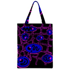 Blue And Magenta Abstraction Classic Tote Bag by Valentinaart