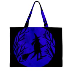 Halloween witch - blue moon Zipper Mini Tote Bag by Valentinaart
