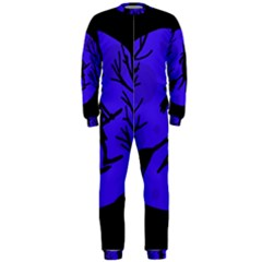 Halloween Witch   Blue Moon Onepiece Jumpsuit (men)  by Valentinaart