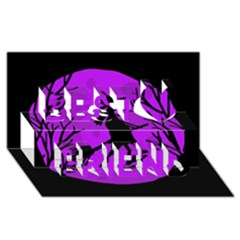 Halloween witch - Purple moon Best Friends 3D Greeting Card (8x4) by Valentinaart