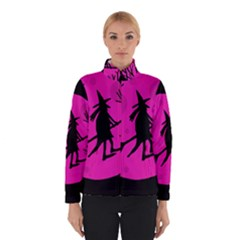 Halloween Witch   Pink Moon Winterwear by Valentinaart