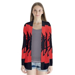 Halloween Witch   Red Moon Drape Collar Cardigan by Valentinaart