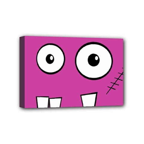 Halloween Frankenstein   Pink Mini Canvas 6  X 4  by Valentinaart