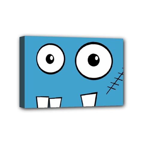 Halloween Frankenstein   Blue Mini Canvas 6  X 4  by Valentinaart