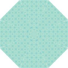 Light Blue Lattice Pattern Hook Handle Umbrellas (medium) by TanyaDraws