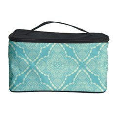 Light Blue Lattice Pattern Cosmetic Storage Case by TanyaDraws