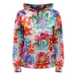 Colorful Succulents Women s Pullover Hoodie by DanaeStudio