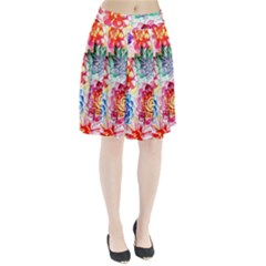 Colorful Succulents Pleated Skirt by DanaeStudio