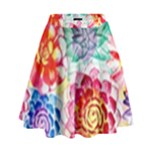 Colorful Succulents High Waist Skirt