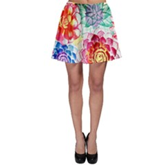 Colorful Succulents Skater Skirt by DanaeStudio