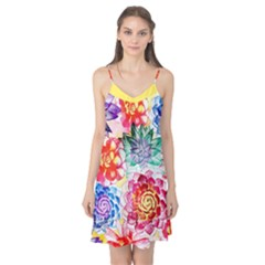 Colorful Succulents Camis Nightgown  by DanaeStudio