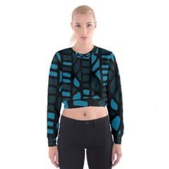 Deep Blue Decor Women s Cropped Sweatshirt
