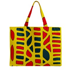 Yellow, green and red decor Zipper Mini Tote Bag by Valentinaart