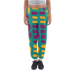 Green, Purple And Yellow Decor Women s Jogger Sweatpants by Valentinaart