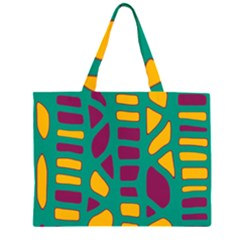 Green, purple and yellow decor Large Tote Bag by Valentinaart