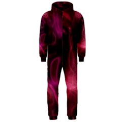 Pink Red Texture                                                                                              Hooded Jumpsuit (men) by LalyLauraFLM