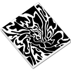 Black and white decor Small Memo Pads by Valentinaart