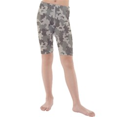 Grey Camouflage Pattern Kid s Mid Length Swim Shorts by artpics