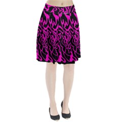 Magenta and black Pleated Skirt by Valentinaart