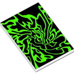 Green And Black Large Memo Pads by Valentinaart