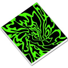 Green And Black Small Memo Pads by Valentinaart