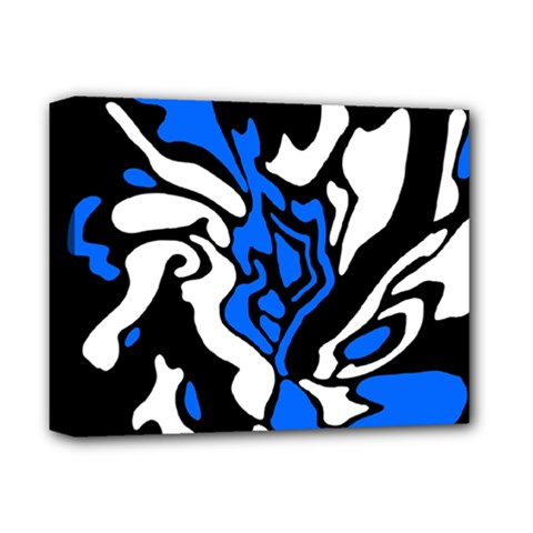 Blue, Black And White Decor Deluxe Canvas 14  X 11  by Valentinaart