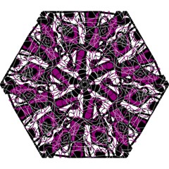 Purple, White, Black Abstract Art Mini Folding Umbrellas by Valentinaart