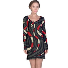 Red snakes Long Sleeve Nightdress by Valentinaart