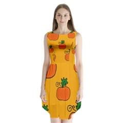 Thanksgiving pumpkins pattern Sleeveless Chiffon Dress   by Valentinaart