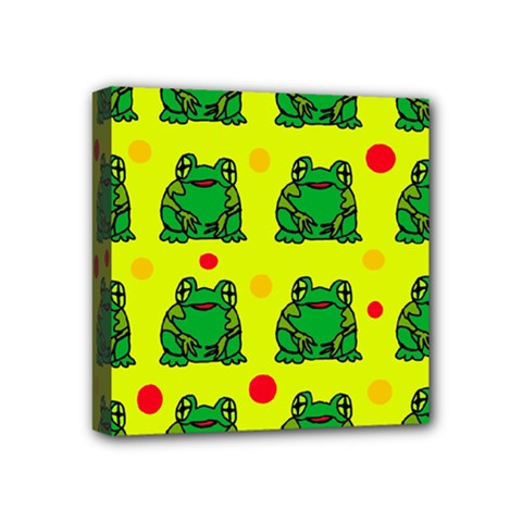 Green Frogs Mini Canvas 4  X 4  by Valentinaart