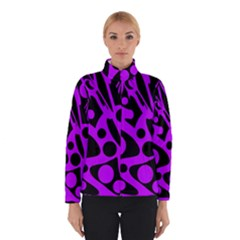 Purple and black abstract decor Winterwear by Valentinaart
