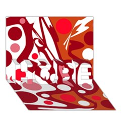 Red And White Decor Hope 3d Greeting Card (7x5) by Valentinaart