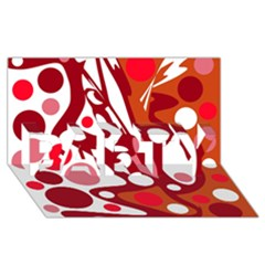 Red And White Decor Party 3d Greeting Card (8x4) by Valentinaart