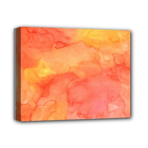 Watercolor Yellow Fall Autumn Real Paint Texture Artists Deluxe Canvas 14  X 11  by CraftyLittleNodes