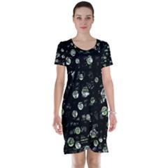 Green soul  Short Sleeve Nightdress by Valentinaart