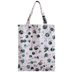 White And Green Soul Zipper Classic Tote Bag by Valentinaart
