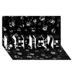 Black And Gray Soul Believe 3d Greeting Card (8x4) by Valentinaart