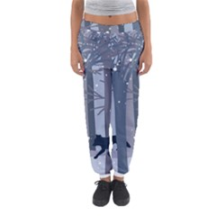 Foxes In The Winter Forest Women s Jogger Sweatpants by DanaeStudio